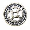 Bali Sterling Silver Beads, Tajlandë, Round Flat, asnjë, asnjë, asnjë, 12x12x1mm, : 1.5mm, 5PC/Qese,  Qese