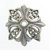 Bali Sterling Silver Bead Caps, Tajlandë, Lule, asnjë, asnjë, 11x11x3mm, : 1mm, 20PC/Qese,  Qese