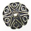 Bali Sterling Silver Bead Caps, Tajlandë, Lule, asnjë, asnjë, 12x12x5mm, : 1mm, 10PC/Qese,  Qese