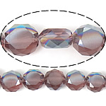 Imitim Swarovski Crystal Beads, Kristal, Round Flat, gjysmë-kromuar, imitim kristal Swarovski, Mid Amethyst, 12x12x7mm, : 1.2mm, 300PC/Shumë,  Shumë