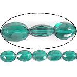 Imitim Swarovski Crystal Beads, Kristal, Oval Flat, asnjë, imitim kristal Swarovski & makinë faceted, Smerald, 9x12x6mm, : 1.2mm, 100PC/Shumë,  Shumë