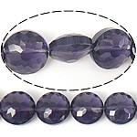 Imitim Swarovski Crystal Beads, Kristal, Round Flat, asnjë, imitim kristal Swarovski & makinë faceted, Violet errët, 14x14x9mm, : 1mm, 100PC/Shumë,  Shumë