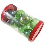 Beads lulëzim Lampwork, Round, fryj, e gjelbër, 38x33mm, 80x137mm, 12PC/Kuti,  Kuti