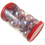Dekorimi Moda, Lampwork, Round, fryj, purpurtë drita, 38x33mm, 80x137mm, 12PC/Kuti,  Kuti