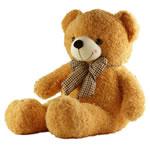 Teddy Bear Toy, Velveteen, punuar me dorë, i verdhë, 120cm,  PC