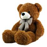 Teddy Bear Toy, Velveteen, punuar me dorë, ngjyrë kafe, 80cm,  PC