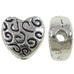 Beads Zink Alloy Zemra, Zemër, Ngjyra antike argjendi praruar, asnjë, asnjë, , nikel çojë \x26amp; kadmium falas, 6x6x3mm, : 1mm, 2850PC/KG,  KG