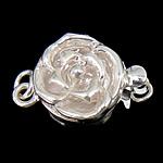 925 Sterling Silver Box kapje, Lule, argjend praruar vërtetë, vetme-fillesë, asnjë, 10x10x6mm, 5PC/Qese,  Qese