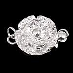 925 Sterling Silver Box kapje, Lule, argjend praruar vërtetë, vetme-fillesë, asnjë, 12x11x5mm, 5PC/Qese,  Qese