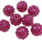 Beads diamant i rremë Rrëshirë, Rrëshirë diamant i rremë, Daulle, asnjë, i tejdukshëm, Trëndafil, 12x14mm, : 2.5mm, 100PC/Qese,  Qese