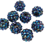 Beads diamant i rremë Rrëshirë, Rrëshirë diamant i rremë, Daulle, Ngjyra AB kromuar, asnjë, vjollcë, 12x14mm, : 2.5mm, 100PC/Qese,  Qese