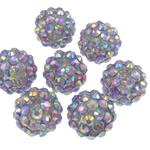 Beads diamant i rremë Rrëshirë, Rrëshirë diamant i rremë, Daulle, Ngjyra AB kromuar, asnjë, purpurtë drita, 12x14mm, : 2.5mm, 100PC/Qese,  Qese