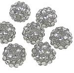 Beads diamant i rremë Rrëshirë, Rrëshirë diamant i rremë, Daulle, asnjë, i tejdukshëm, e bardhë, 12x14mm, : 2.5mm, 100PC/Qese,  Qese