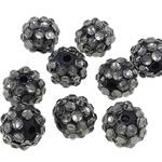 Beads diamant i rremë Rrëshirë, Rrëshirë diamant i rremë, Daulle, asnjë, i tejdukshëm, gri, 10x12mm, : 2mm, 100PC/Qese,  Qese