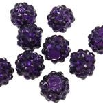 Beads diamant i rremë Rrëshirë, Rrëshirë diamant i rremë, Daulle, asnjë, i tejdukshëm, vjollcë e errët, 10x12mm, : 2mm, 100PC/Qese,  Qese