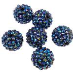 Beads diamant i rremë Rrëshirë, Rrëshirë diamant i rremë, Daulle, Ngjyra AB kromuar, asnjë, vjollcë, 16x18mm, : 2.5mm, 100PC/Qese,  Qese