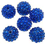 Beads diamant i rremë Rrëshirë, Rrëshirë diamant i rremë, Daulle, asnjë, i tejdukshëm, blu, 16x18mm, : 2.5mm, 100PC/Qese,  Qese