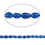 Barok Beads kulturuar Pearl ujërave të ëmbla, Pearl kulturuar ujërave të ëmbla, Nuggets, i lyer, blu, 6-7mm, : 0.8mm, : 14.5Inç, 10Fillesat/Qese,  Qese