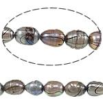 Rajs Beads ujërave të ëmbla kulturuar Pearl, Pearl kulturuar ujërave të ëmbla, Oriz, asnjë, asnjë, Një, 8-9mm, : 0.8mm, : 15Inç,  15Inç,