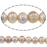 Barok Beads kulturuar Pearl ujërave të ëmbla, Pearl kulturuar ujërave të ëmbla, Round, asnjë, rozë, 9-10mm, : 2mm, :15Inç,  15Inç,