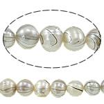 Round Beads kulturuar Pearl ujërave të ëmbla, Pearl kulturuar ujërave të ëmbla, i lyer, asnjë, Një, 8-9mm, : 0.8mm, : 15Inç,  15Inç,