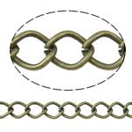 Stainless Steel Eyepins, Hekur, Petull e ëmbël në formë gjevreku, Ngjyra antike bronz i praruar, asnjë, asnjë, , nikel çojë \x26amp; kadmium falas, 7x10x1.40mm, :25m,  PC