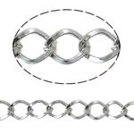 Stainless Steel Eyepins, Hekur, Petull e ëmbël në formë gjevreku, ngjyrë platin praruar, asnjë, asnjë, , nikel çojë \x26amp; kadmium falas, 7x9.50x1.30mm, :25m,  PC