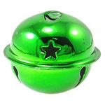 Hekuri Pendants Bell, Zile, pikturë, asnjë, e gjelbër, , nikel çojë \x26amp; kadmium falas, 40x34mm, : 5x3mm, 50PC/Qese,  Qese