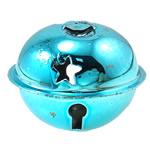 Hekuri Pendants Bell, Zile, pikturë, asnjë, Skyblue, , nikel çojë \x26amp; kadmium falas, 35x28mm, : 6x3mm, 100PC/Qese,  Qese