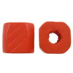 Beads druri, Kub, pikturë, asnjë, portokalli thellë kuqalashe, 8x8x8xmm, : 3mm, 2500PC/Qese,  Qese