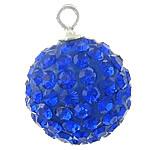 Swarovski Crystal Pendants, Round, Dark Sapphire, 7mm, : 2mm, 5PC/Qese,  Qese