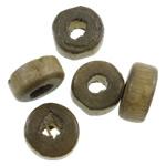 Beads druri, Heishi, asnjë, asnjë, ngjyra origjinale, 8x4mm, : 3mm, 6250PC/Qese,  Qese