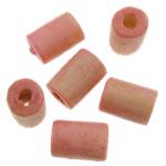Beads druri, Tub, i lyer, asnjë, trëndafili dritë, 4x5mm, : 1.5mm, 12500PC/Qese,  Qese
