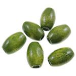 Beads druri, Daulle, i lyer, asnjë, e gjelbër, 6x9mm, : 2mm, 4165PC/Qese,  Qese