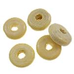 Beads druri, Rondelle, i lyer, asnjë, bezh, 10x4mm, : 3mm, 3330PC/Qese,  Qese