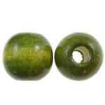 Beads druri, Round, i lyer, asnjë, Ushtria Kamuflimi gjelbër, 18mm, : 4mm, 275PC/Qese,  Qese