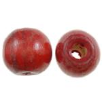 Beads druri, Round, i lyer, asnjë, i kuq, 14mm, : 4mm, 555PC/Qese,  Qese