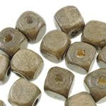 Beads druri, Kub, asnjë, asnjë, ngjyra origjinale, 10mm, : 3.5mm, 1000PC/Qese,  Qese
