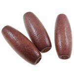 Beads druri, Oval, i lyer, asnjë, Ngjyra e kuqe kafe, 8x22mm, : 3mm, 1150PC/Qese,  Qese