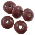 Beads druri, Rondelle, i lyer, asnjë, Ngjyra e kuqe kafe, 10x5mm, : 3mm, 3330PC/Qese,  Qese