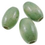 Beads druri, Oval, i lyer, asnjë, drita e gjelbër, 10x15mm, : 3.5mm, 1250PC/Qese,  Qese