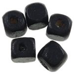 Beads druri, Kub, i lyer, asnjë, e zezë, 5mm, : 2mm, 9255PC/Qese,  Qese
