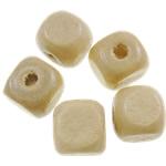 Beads druri, Kub, i lyer, asnjë, bezh, 8mm, : 2.5mm, 1945PC/Qese,  Qese