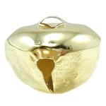Hekuri Pendants Bell, Zile, ngjyra të ndritshme ari praruar, asnjë, asnjë, , nikel çojë \x26amp; kadmium falas, 26x21mm, : 5x3mm, 500PC/Qese,  Qese