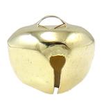 Hekuri Pendants Bell, Zile, ngjyra të ndritshme ari praruar, asnjë, asnjë, , nikel çojë \x26amp; kadmium falas, 20x18mm, : 5x3mm, 1000PC/Qese,  Qese