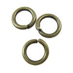 Iron Mbyllur Ring Jump, Hekur, Petull e ëmbël në formë gjevreku, Ngjyra antike bronz i praruar, asnjë, asnjë, , nikel çojë \x26amp; kadmium falas, 6x1mm, : 4.5mm, 9090PC/KG,  KG