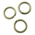 Iron Mbyllur Ring Jump, Hekur, Petull e ëmbël në formë gjevreku, Ngjyra antike bronz i praruar, asnjë, asnjë, , nikel çojë \x26amp; kadmium falas, 5x0.7mm, : 3.5mm, 25575PC/KG,  KG