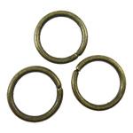 Iron Mbyllur Ring Jump, Hekur, Petull e ëmbël në formë gjevreku, Ngjyra antike bronz i praruar, asnjë, asnjë, , nikel çojë \x26amp; kadmium falas, 10x1.2mm, : 8mm, 4165PC/KG,  KG