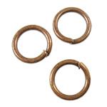 Iron Mbyllur Ring Jump, Hekur, Petull e ëmbël në formë gjevreku, ngjyrë bakri të praruar antike, asnjë, asnjë, , nikel çojë \x26amp; kadmium falas, 7x1mm, : 5mm, 10000PC/KG,  KG