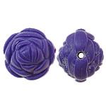 Beads Solid Color akrilik, Lule, asnjë, ngjyra të forta, vjollcë, 20x17mm, : 2.5mm, 170PC/Qese,  Qese